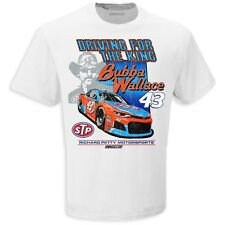 Bubba Wallace #43 STP 2018 CFS Throwback White Nascar Tee Adult Large