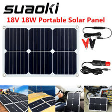 Flexible 18W Solar Panel 12V Battery Charger System Maintain Marine Boat RV Car