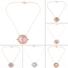 Cool Fashion Magic Time Turner Necklace Rotating Spins Hourglass Necklace WE