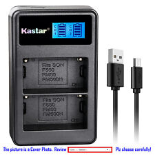 Kastar Battery LCD Dual Charger for Sony NP-FM500H & DSLR-A500 Alpha A500 Camera