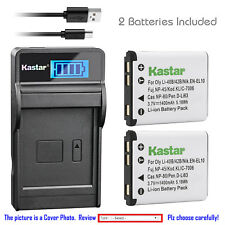 Kastar Battery LCD Charger for Casio NP-80 BC-80L & Casio Exilim QV-R80 Camera