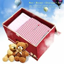 Bowknot Non Woven Storage Box Case Clothes Container Waterproof Organizer Bins#Q