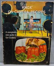 Vintage Knox 1963 Cookbook On Camera Recipes Guide to Gel-Cookery