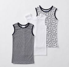 BNWT BABY BOYS SINGLETS VESTS X3 NAVY SIZE NB 0000 OR 000 0-3MONTHS  NEW