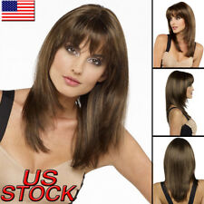 Women's Medium Straight Full Wig Synthetic Hair Cosplay Party Costume Hair Wigs