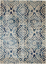 NEW (#411) MODERN BLUE MOROCCAN - NEW AREA RUG, APROX SIZES: 2X3, 2X7, 4X5 & 5X7