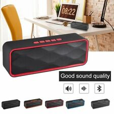 Portable Wireless Bluetooth Speaker Rechargeable Super Bass Stereo SD FM AUX