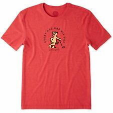 Life is Good. Mens Cool Tee: Rocket Golf - Americana Red