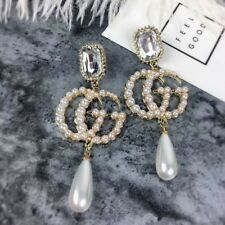 korean trendy long pearl earrings for women big tassel dangle jewelry sweet Gift