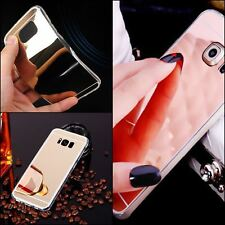 New Ultra thin Mirror Metal View TPU Gel Case Cover For Samsung S8 S8+ S7 S7edge