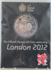 2012  OFFICIAL LONDON  OLYMPIC  £5 Five POUND  COIN BUNC ON PRESENTATION CARD