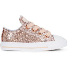 Converse Chuck Taylor All Star Glitter Dust Pink Synthetic Baby Trainers