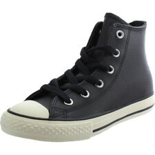 Converse Chuck Taylor All Star Hi Black Tumbled Leather Trainers