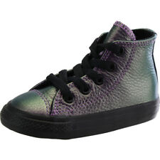Converse Chuck Taylor All Star Hi Violet Leather Baby Trainers