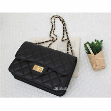 Hot Sale! Womens Leather Shoulder Bag Quilted Chain Cross Body Bag Handbag New