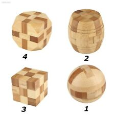 F49BDC2 Bamboo IQ Puzzle Kong Ming/Luban Lock Brain Teaser Education Toys Game