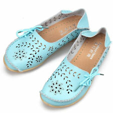 Women's Leather Flats Breathable Ballet Oxfords Loafer Driving Moccasins Sandals