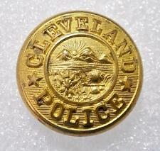 Antique Cleveland Police Button Scovill Waterbury Late 1800s Full Size 1