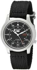 Seiko 5 Nylon Automatic Military Style Men's Watch With Dial Analogue Display