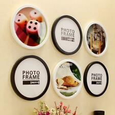 Round Photo Frame DIY Decorate Wooden Frames Hanging Wall Mounted Picture Holder