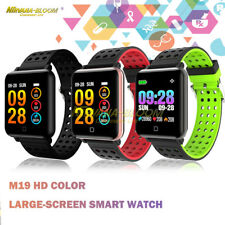 M19 Color Screen Bluetooth Sport Smart Watch Heart Rate Monitor For iOS Android