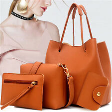 New Leather Handbag 4pc Women Lady Shoulder Bag Tote Purse Messenger Satchel Set