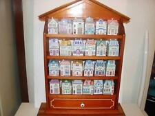 The Lenox Spice Village with Wood Rack~Fine Porcelain~1989~24 Spice Houses~