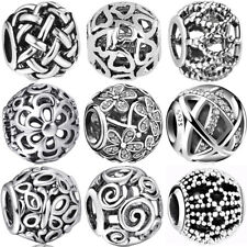 925 european sterling openwork silver charms bead for bracelet necklace BK004