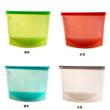 1pc Reusable Silicone Food Preservation Bag Airtight Seal Food Storage Container
