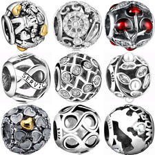 925 New sterling hollow silver european charms bead for bracelet necklace BK006