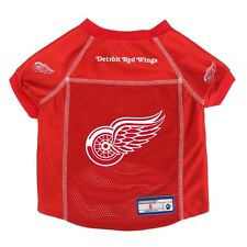 Detroit Red Wings NHL LEP Mesh Dog Jersey Officially Licensed Red, Sizes XS-XL