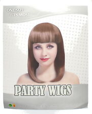 Adults Ladies Long Bob Party Wig Fancy Dress Accessory One Size