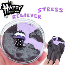 Halloween Bat Slime Fluffy Floam Slime Stress Relief Toy Scented Sludge Fun Toy