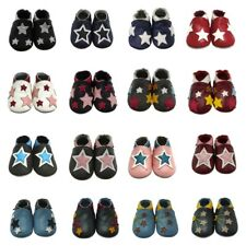 Mejale Stars Baby Bootees Soft Leather Slippers Infant Moccasins Toddler Shoes