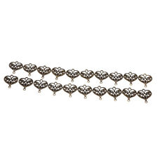 20pcs Antique Silver/Bronze Filigree Hollow Heart Charms Pendant Loose Beads