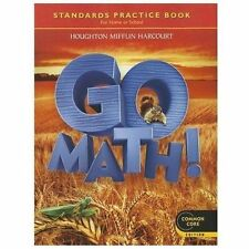 GO MATH! STANDARDS PRACTICE BOOK, GRADE 2, COMMON CORE EDITION NEW FREE SHIPPING