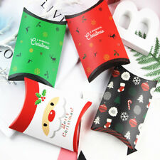 Christmas Party Paper Favour Pillow Boxes Candy Sweets Cookies Snack Gift Bags