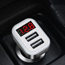 HOCO Z3-2U Dual USB Ports Car Charger LCD Voltage Current Tester JA