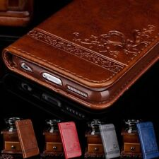 Genuine Leather Flip Wallet Phone Case Cover for iPhone 6 7 Plus Samsung Note DD