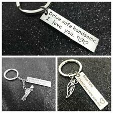 Fashion Drive Safe Handsome Keyring Stainless Steel Trucker Key Chains Pendant