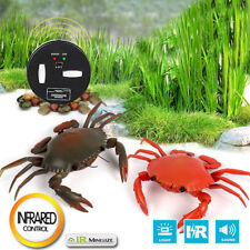 Fun Infrared Remote Control Realistic Mini Crab RC Prank Insect Scary Trick Toy