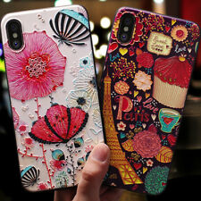Luxury Art Pattern Slim Cover Shell For iPhone 7 8 Plus X XS Max XR Cover Case