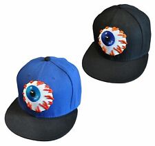 Eyeball Pack: 2 x Eye Snapback Baseball Caps - Blue & Black