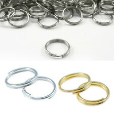 100Pcs Metal 7/8/10mm Gold Gift Rings Connectors Split Open Jump Double Silver