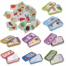Colorful Baby Kids Cognition Puzzle Toy Toddlers Iron Box Card Matching Toy QP