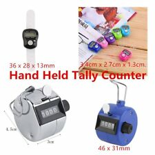 Hand Held Tally Counter Manual Counting 4 Digit Number Golf Clicker A1