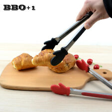 Barbecue Accessories Stainless steel Food Clip BBQ Tongs Silicone Kitchen Tongs