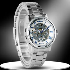 WINNER Luxury Stainless Steel Band Men's Mechanical Hand-winding Wrist Watch