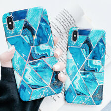 For Apple iPhone XS Max XR 8 7 6s Plus Marble Plating Silicone Soft Case Cover