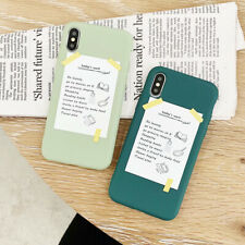 For iPhone X XS Max XR 6 7 8 Plus Simplicity Frosted Silicone Phone Case Cover
